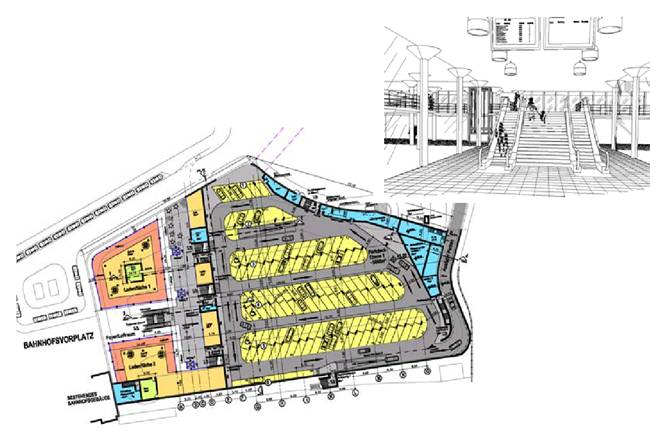New Design Of Central Bus Terminal With 2 Storey